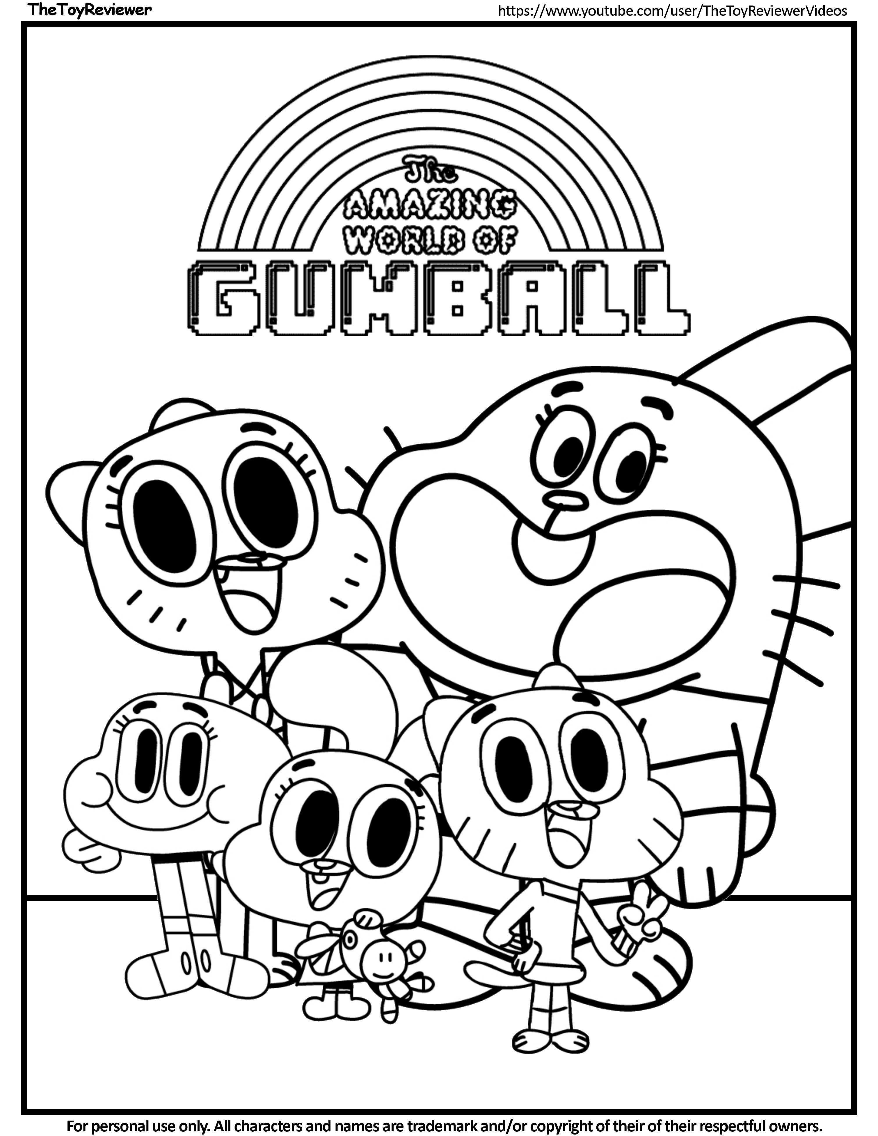 gumball cartoon coloring pages printable the amazing world of gumball coloring pages on pages cartoon coloring gumball