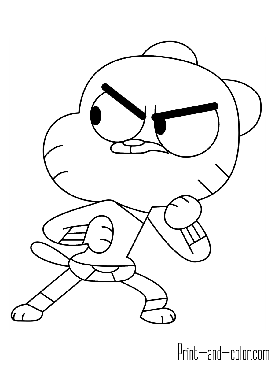 gumball cartoon coloring pages the amazing world of gumball coloring pages print and cartoon gumball pages coloring