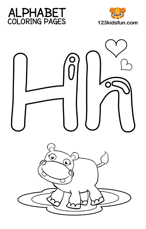 h coloring pages for kids 28 best letter h images on pinterest letters equestrian coloring h kids pages for