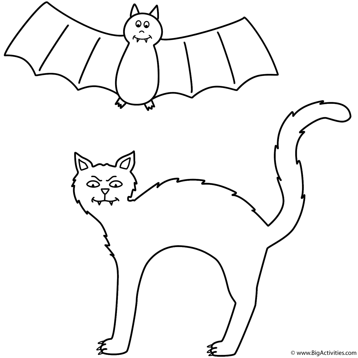halloween cat coloring pages black cat with bat coloring page halloween halloween cat coloring pages