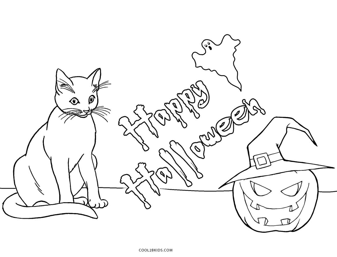 halloween cat coloring pages free printable cat coloring pages for kids coloring pages halloween cat