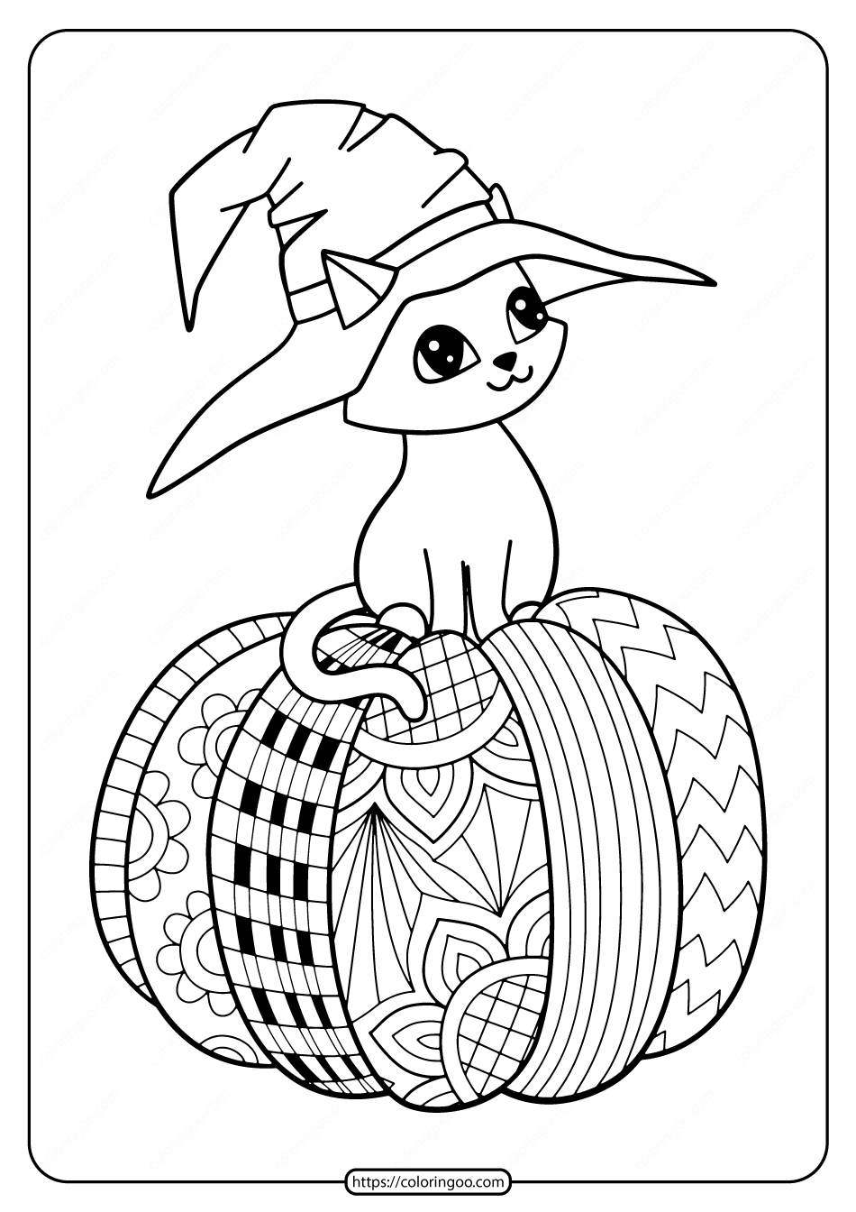 halloween cat coloring pages halloween witch hat cat on pumpkin coloring pages pages coloring halloween cat