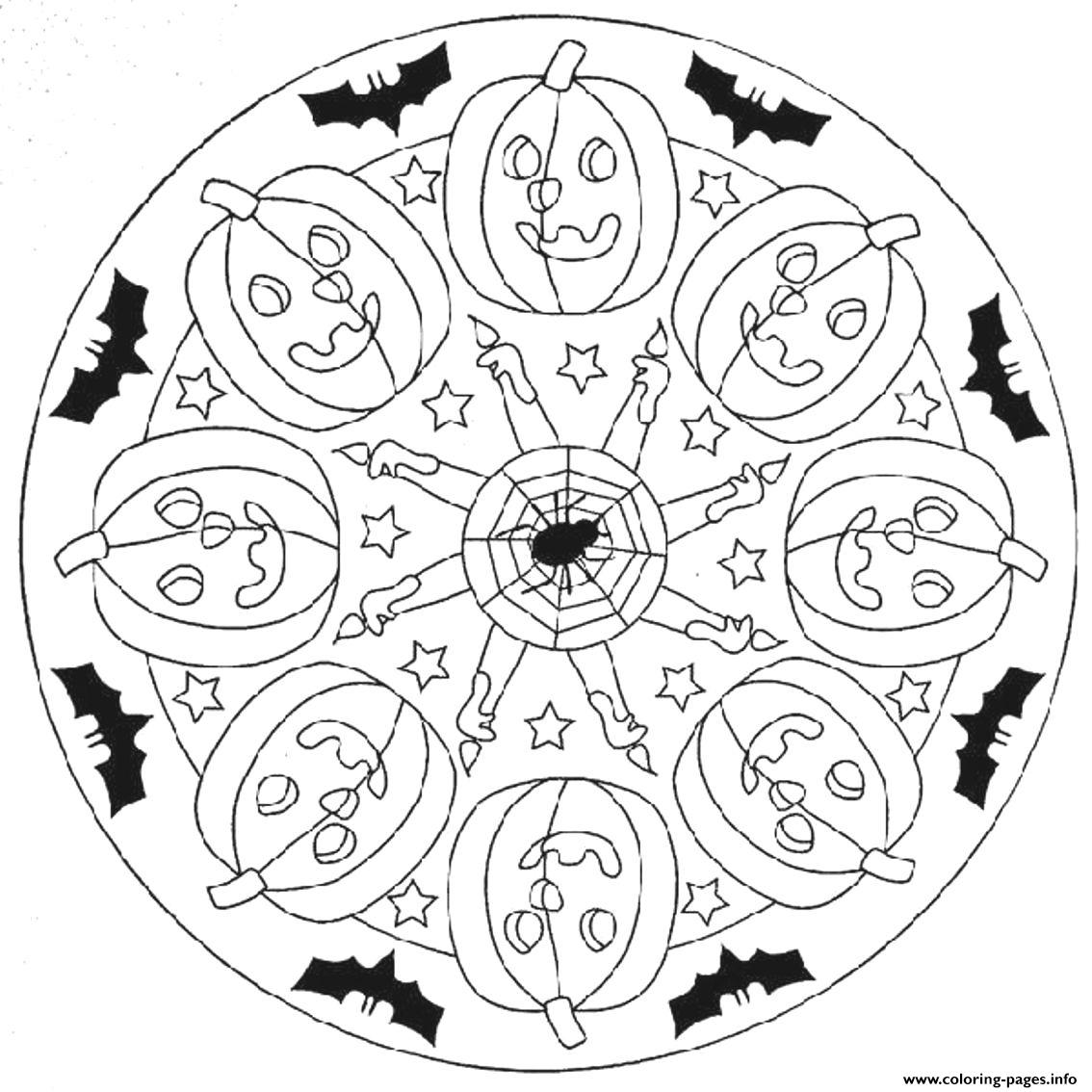 halloween mandala coloring pages free printable halloween mandala coloring pages 1 coloring mandala pages halloween