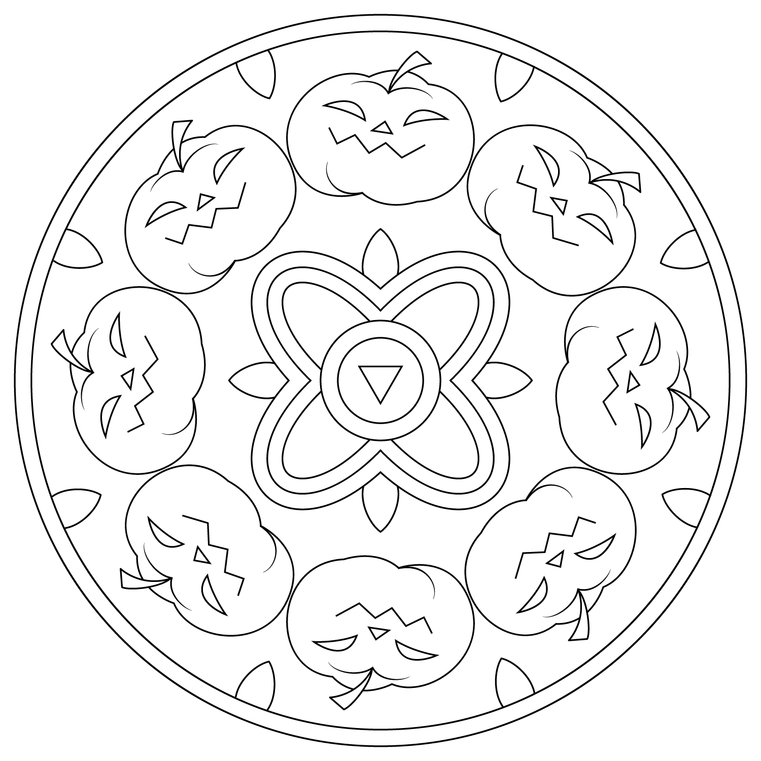 halloween mandala coloring pages halloween mandala with a witch in the village coloring pages coloring halloween mandala