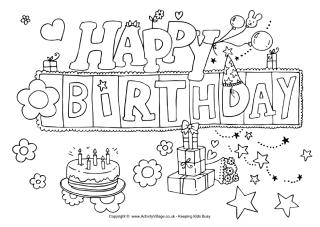 happy 4th birthday coloring pages 8th birthday puzzles birthday happy 4th coloring pages