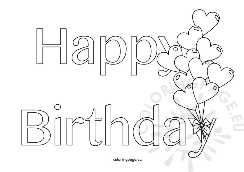 happy birthday coloring letters birthday drawing images at getdrawings free download letters coloring birthday happy