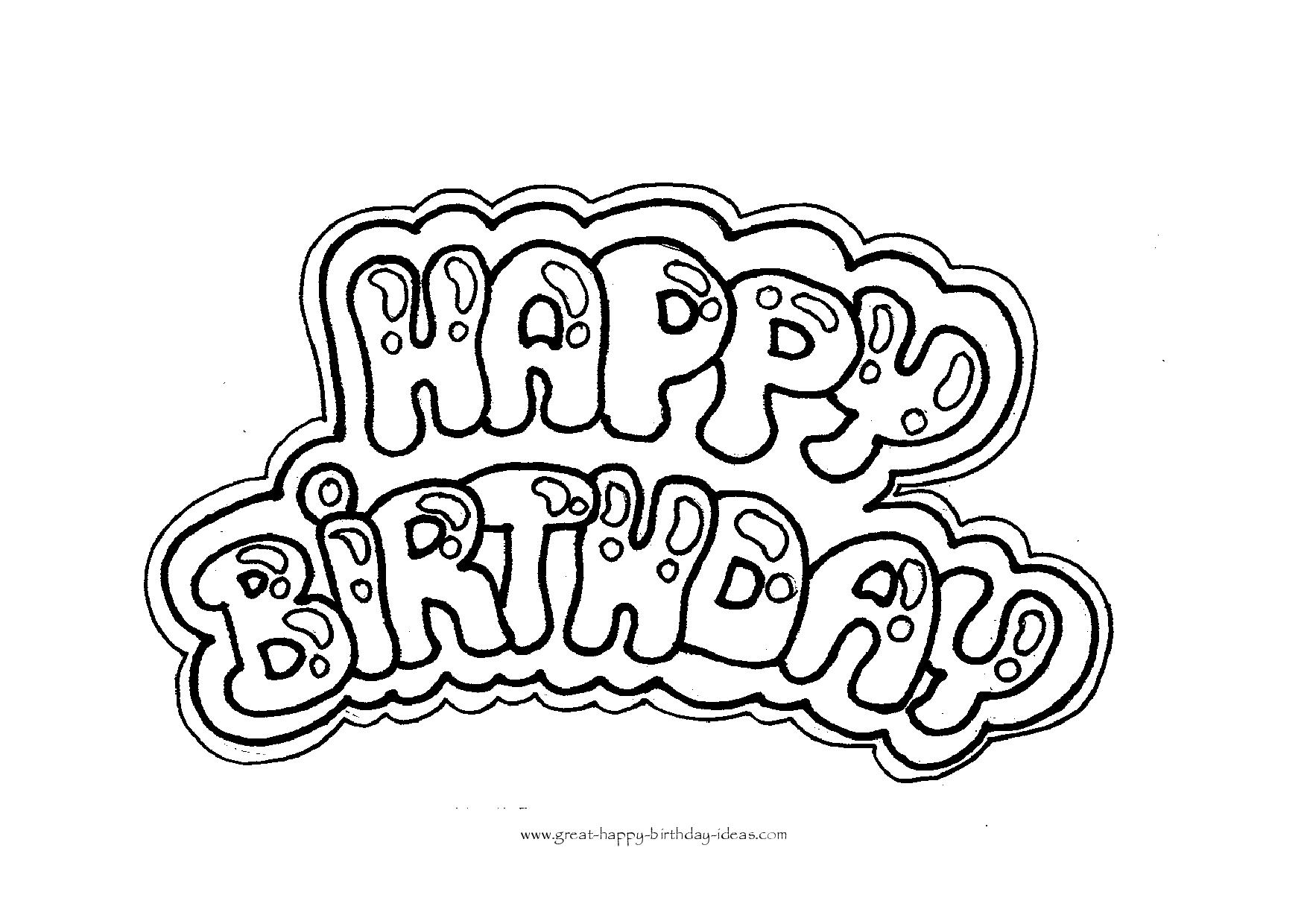 happy birthday coloring letters happy birthday picture to color 1668 colouring pages or coloring birthday letters happy
