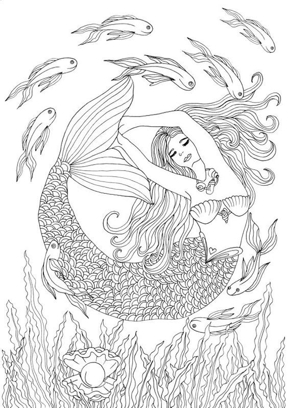 hard advanced mermaid coloring pages best 15 hard coloring pages of mermaids pictures coloring hard advanced mermaid pages