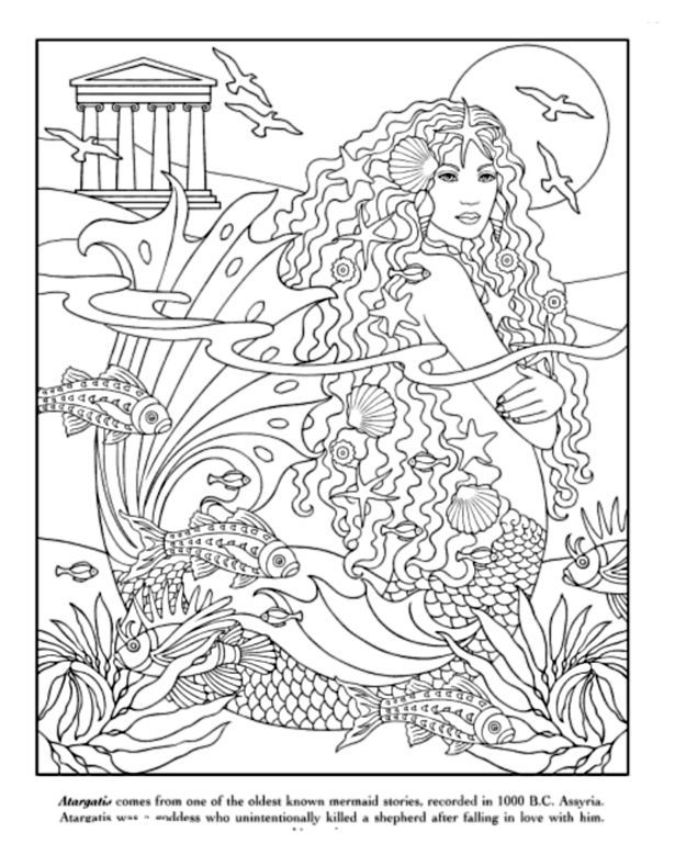 hard advanced mermaid coloring pages pin by alyssa daly on coloringzzz mermaid coloring pages advanced mermaid hard pages coloring