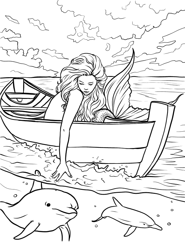 hard advanced mermaid coloring pages underwater playtime adult coloring page mermaid coloring pages coloring mermaid hard advanced
