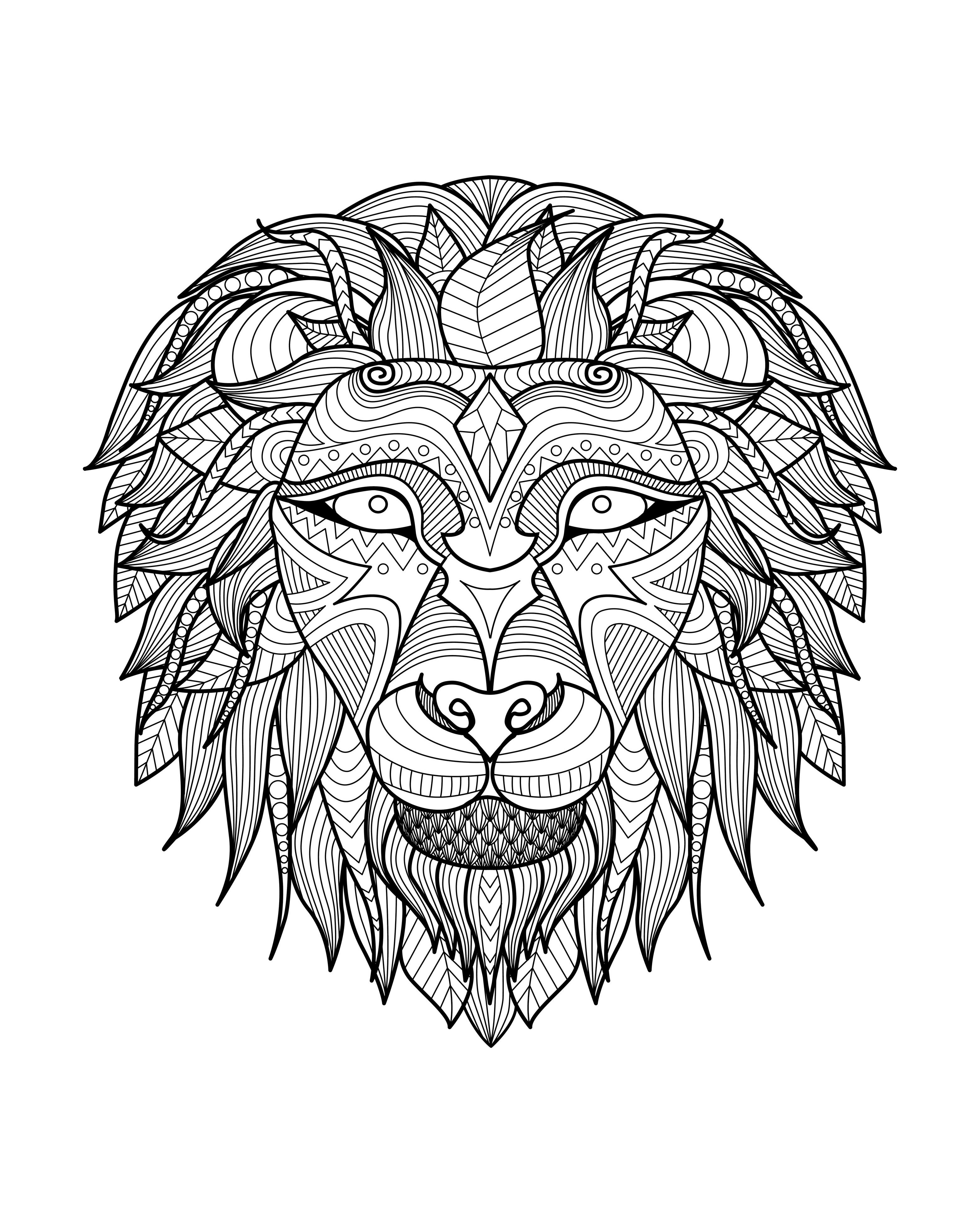 hard lion coloring pages really hard difficult color by number for adults coloring hard pages coloring lion