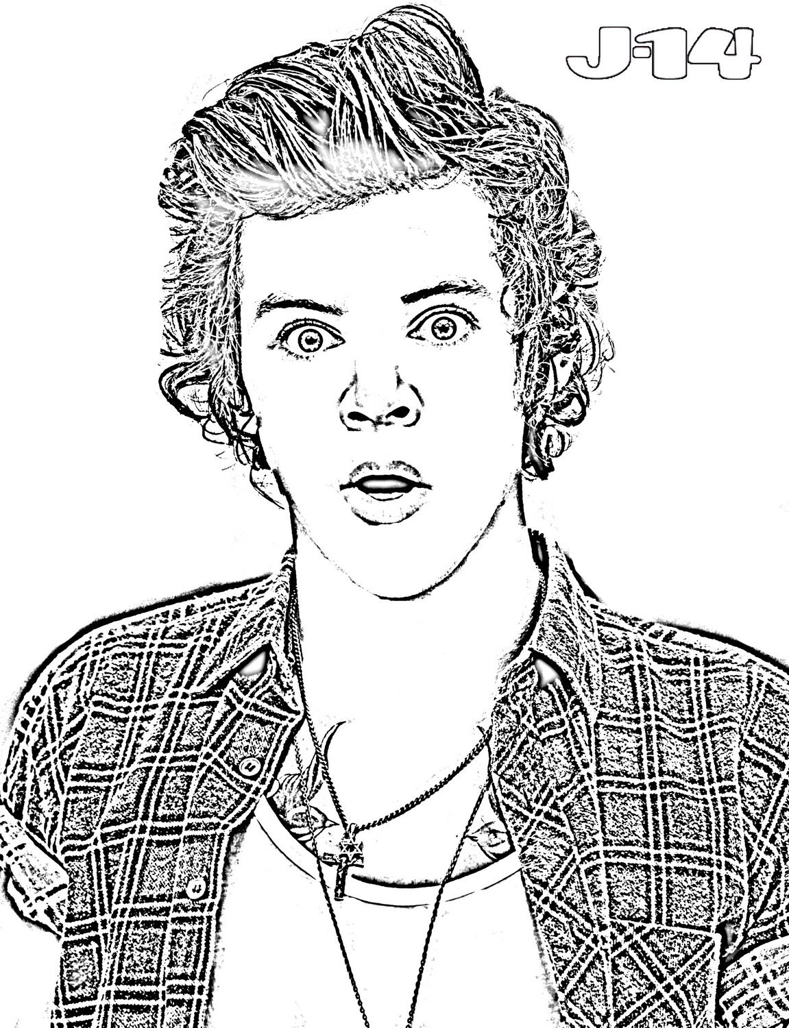 harry styles coloring page disegno di ritratto di harry styles da colorare acolorecom harry styles coloring page