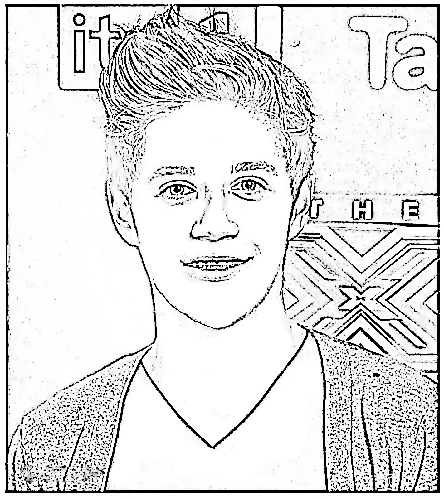 harry styles coloring page harry styles coloring page at getdrawings free download page styles harry coloring