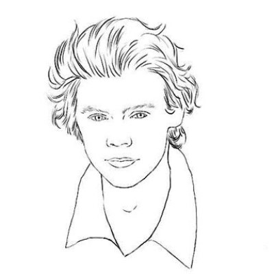 harry styles coloring page harry styles drawing at getdrawings free download harry coloring styles page