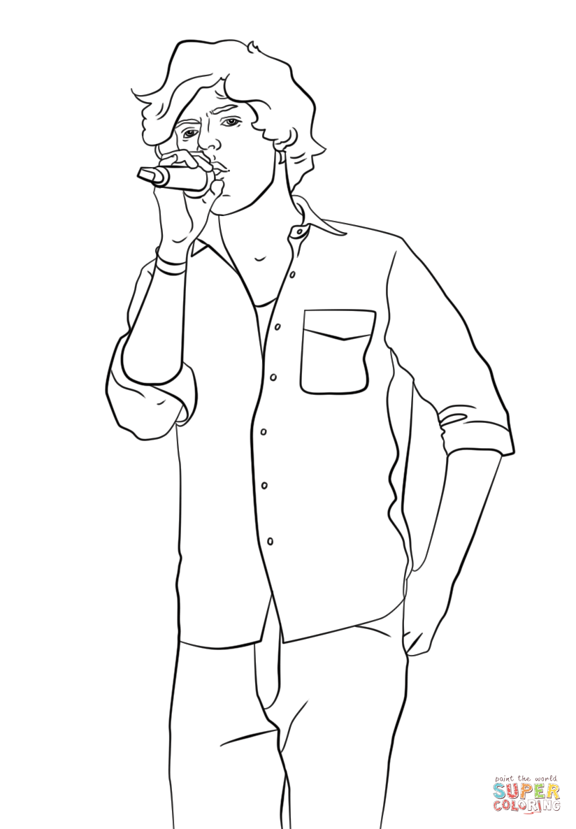 harry styles coloring page online coloring pages starting with the letter h page 2 page harry coloring styles
