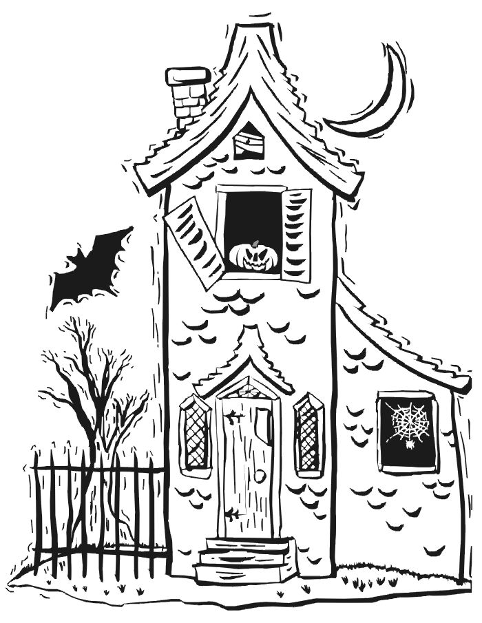 haunted house coloring page cartoon haunted house coloring page coloring home page haunted house coloring