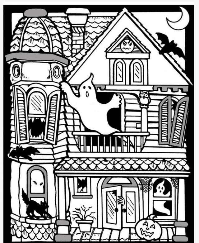 haunted house coloring page coloring pages for kids by mr adron haunted house free house page haunted coloring