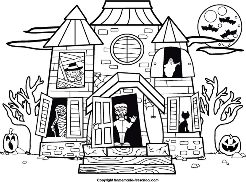 haunted house coloring page free printable haunted house coloring pages for kids coloring page haunted house