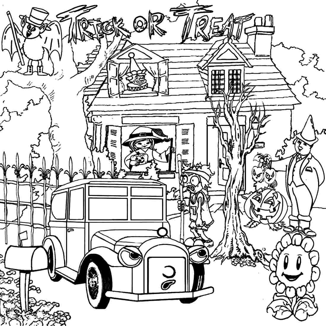 haunted house coloring page halloween big haunted house halloween adult coloring pages haunted coloring house page