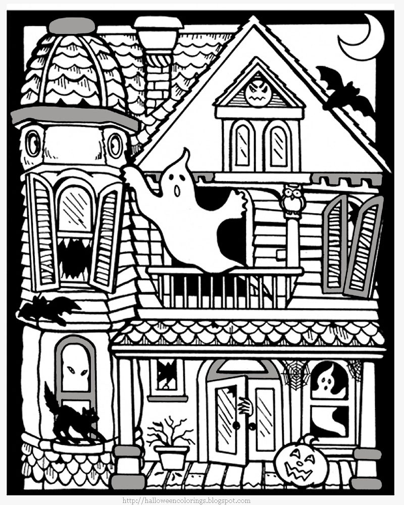 haunted house coloring page scary haunted house coloring pages download and print for free page haunted coloring house
