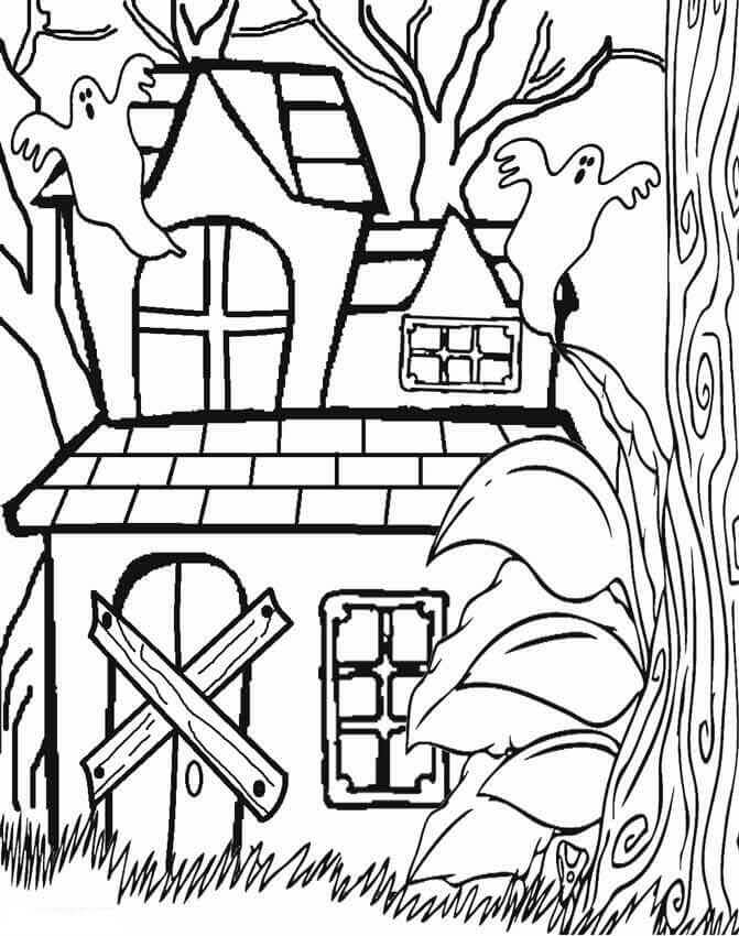 haunted house coloring pages 25 free printable haunted house coloring pages for kids haunted house pages coloring