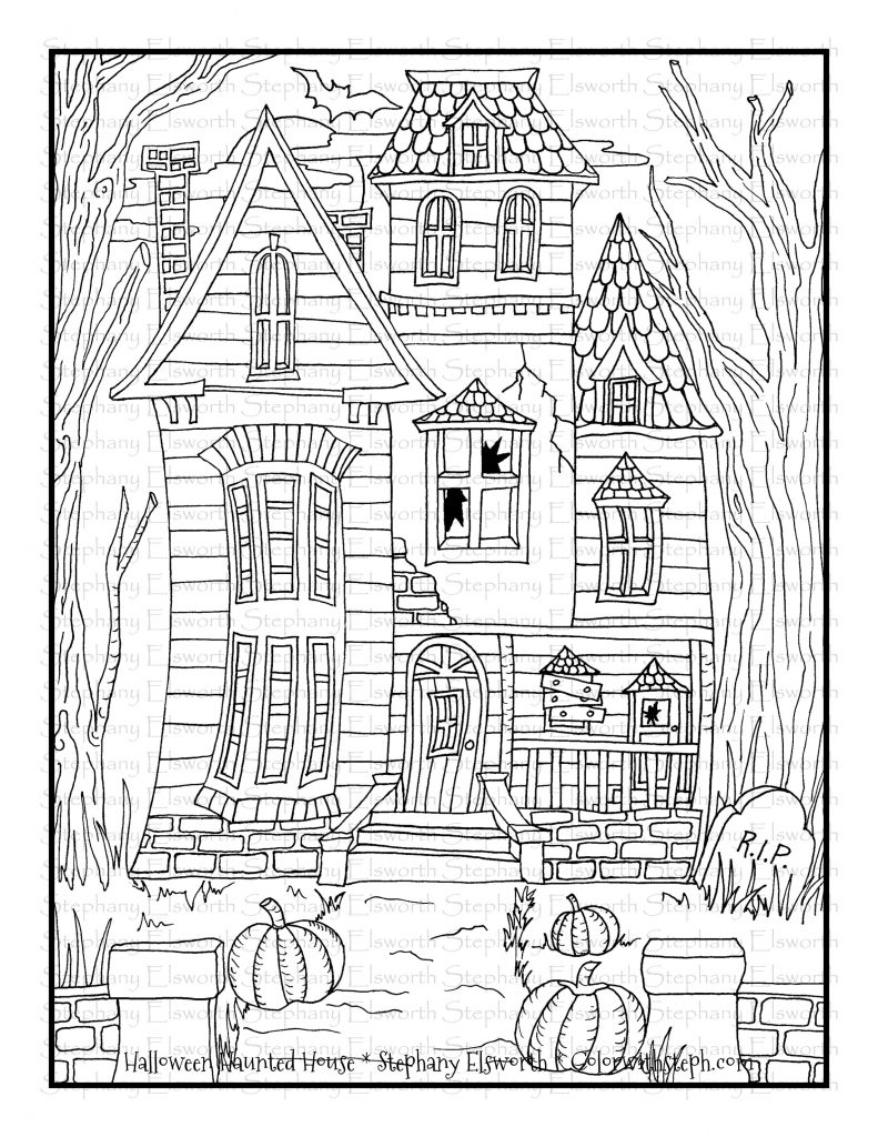 haunted house coloring pages halloween haunted house free printable coloring page house pages coloring haunted