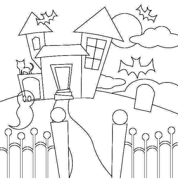 haunted house coloring pages haunted house picture coloring page kids play color house pages coloring haunted