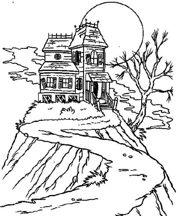 haunted house coloring pages isolated haunted house coloring page kids play color house coloring pages haunted