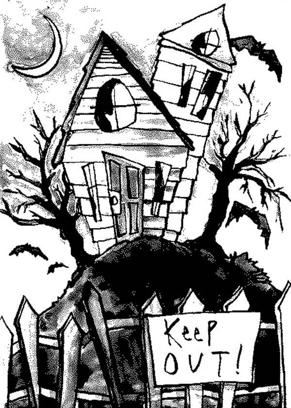 haunted house coloring pages keep out from haunted house coloring page kids play color coloring house pages haunted