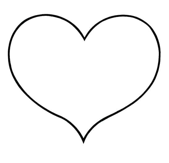 heart clipart coloring page free printable heart coloring pages for kids heart cute coloring heart page clipart