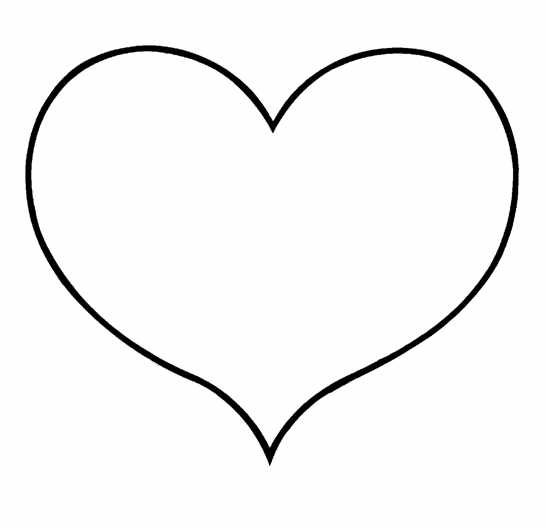 heart clipart coloring page large heart shape clipart best coloring clipart heart page