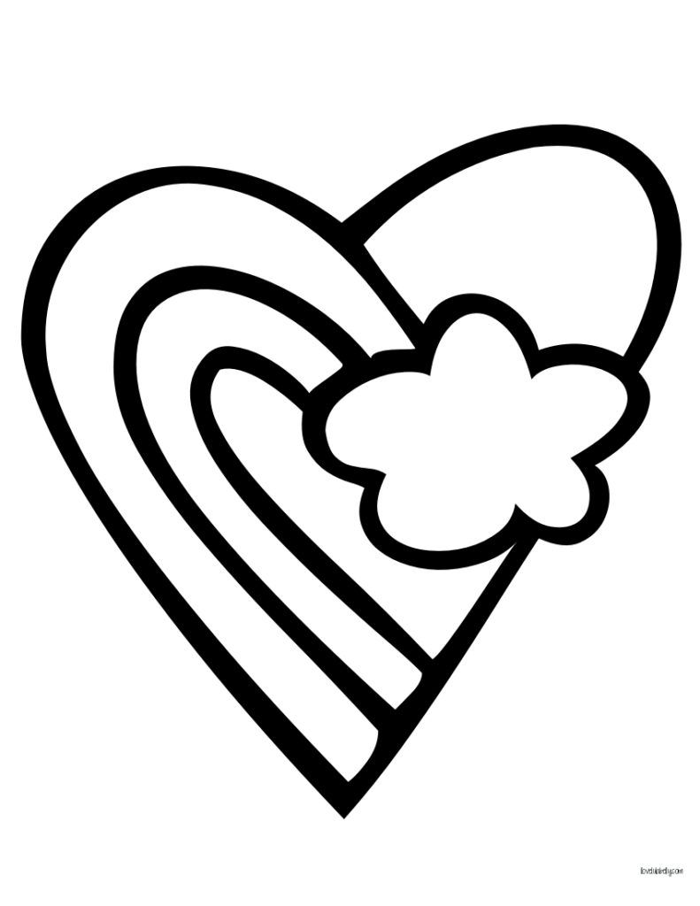 heart clipart coloring page sure fire valentine hearts to color simplistic images page coloring clipart heart