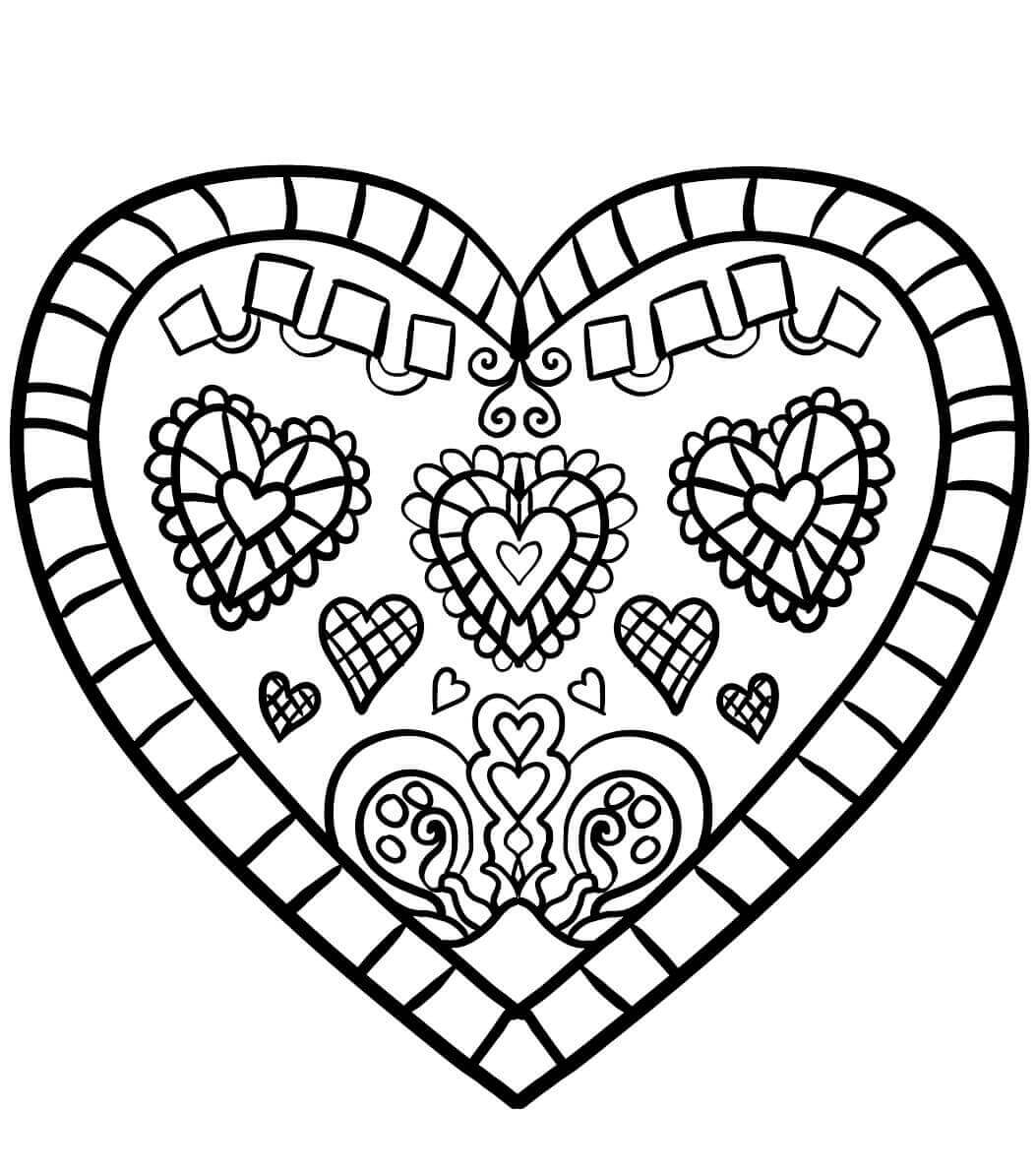 heart coloring book coloring pages hearts free printable coloring pages for heart book coloring