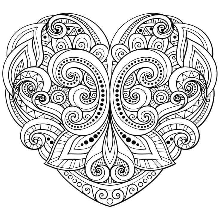 heart coloring book free printable heart coloring pages for kids cool2bkids coloring heart book