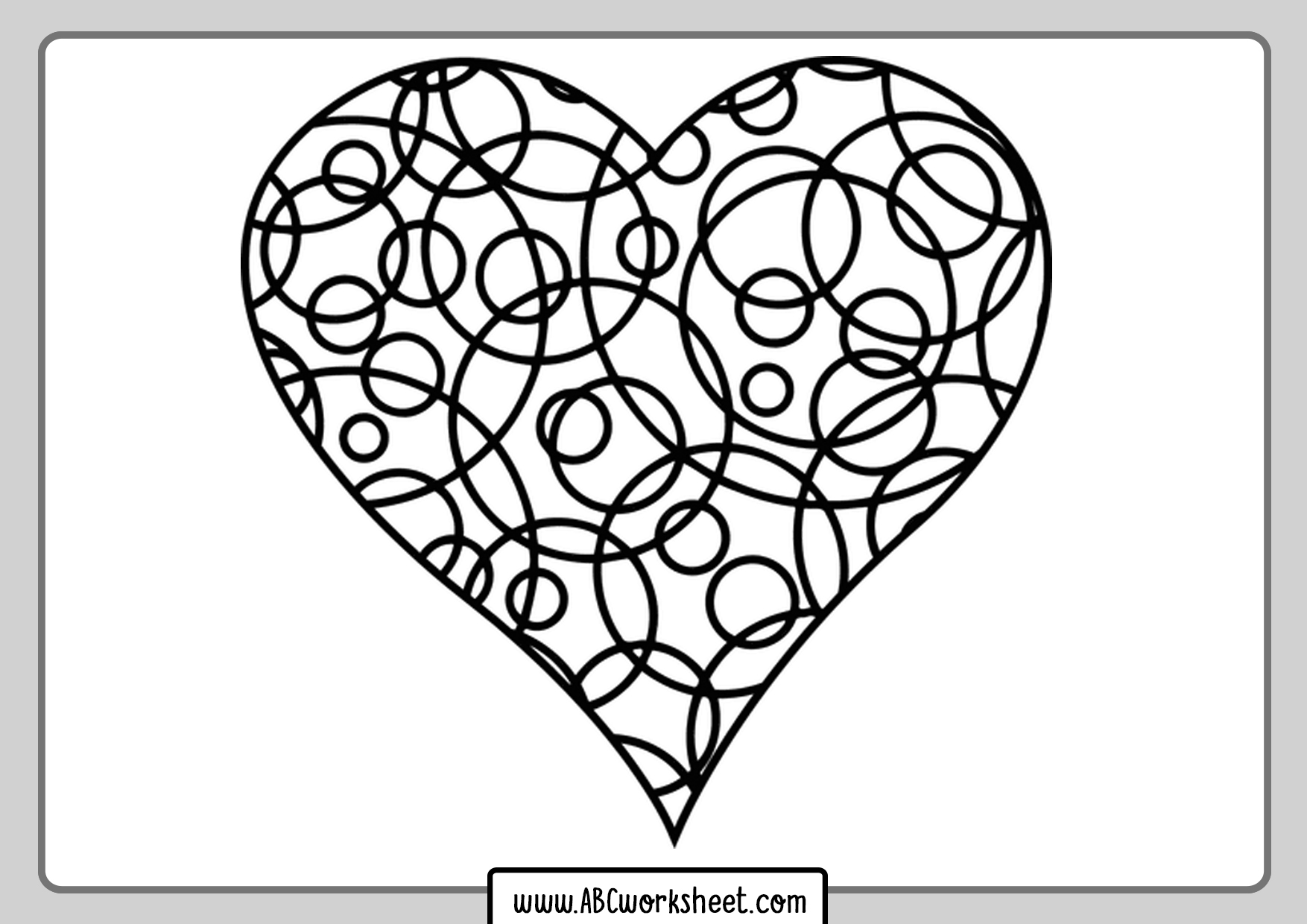 heart coloring worksheet free coloring page heart printable for kids free heart worksheet coloring