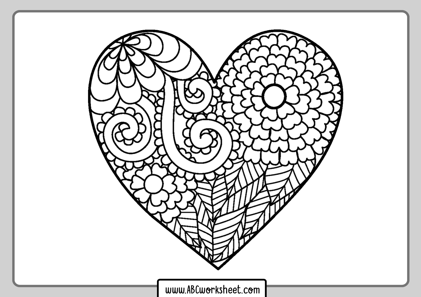 heart coloring worksheet heart worksheet color trace connect draw supplyme coloring heart worksheet