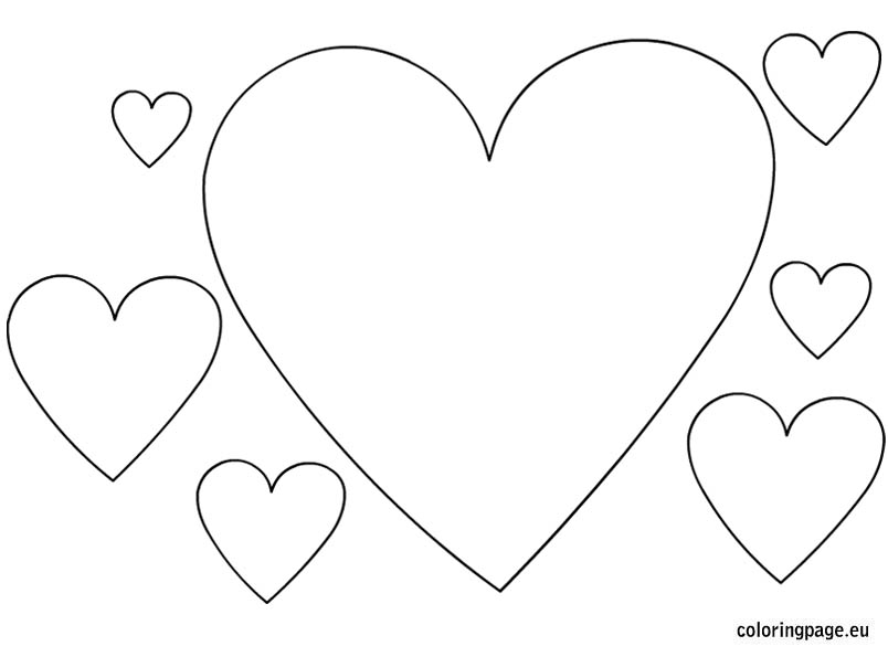 heart shape for coloring heart coloring pages kidsuki heart shape coloring for