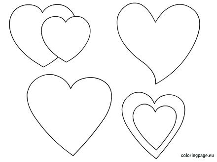 heart shape for coloring printable hearts shapes coloring page coloring shape for heart