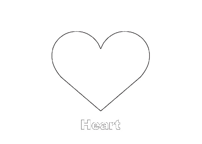 heart shape for coloring simple shapes easy coloring pages for toddlers heart shape for coloring