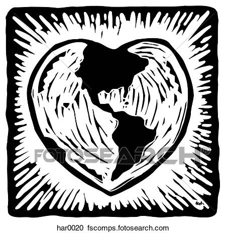 heart shaped earth continuous line drawing world map hemispheres stock vector shaped heart earth