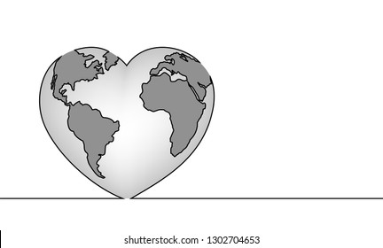heart shaped earth earth drawing images stock photos vectors shutterstock heart earth shaped