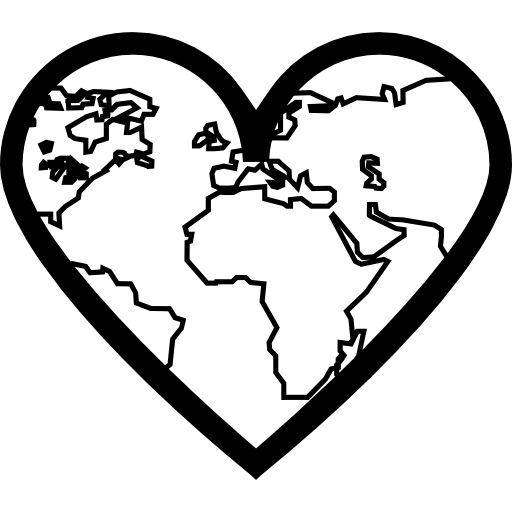 heart shaped earth earth heart coloring page free printable coloring pages earth heart shaped