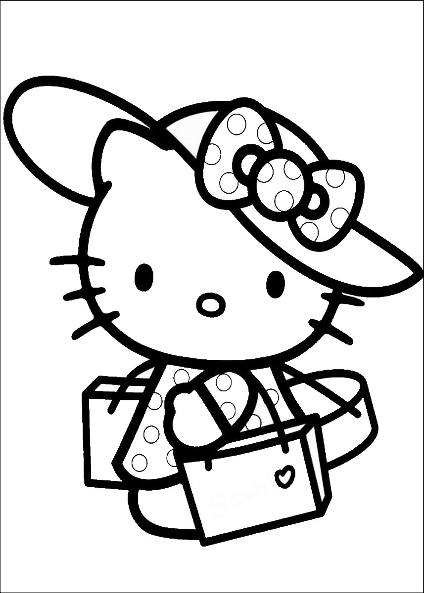 hello kitty color page coloring pages hello kitty dr odd page color kitty hello