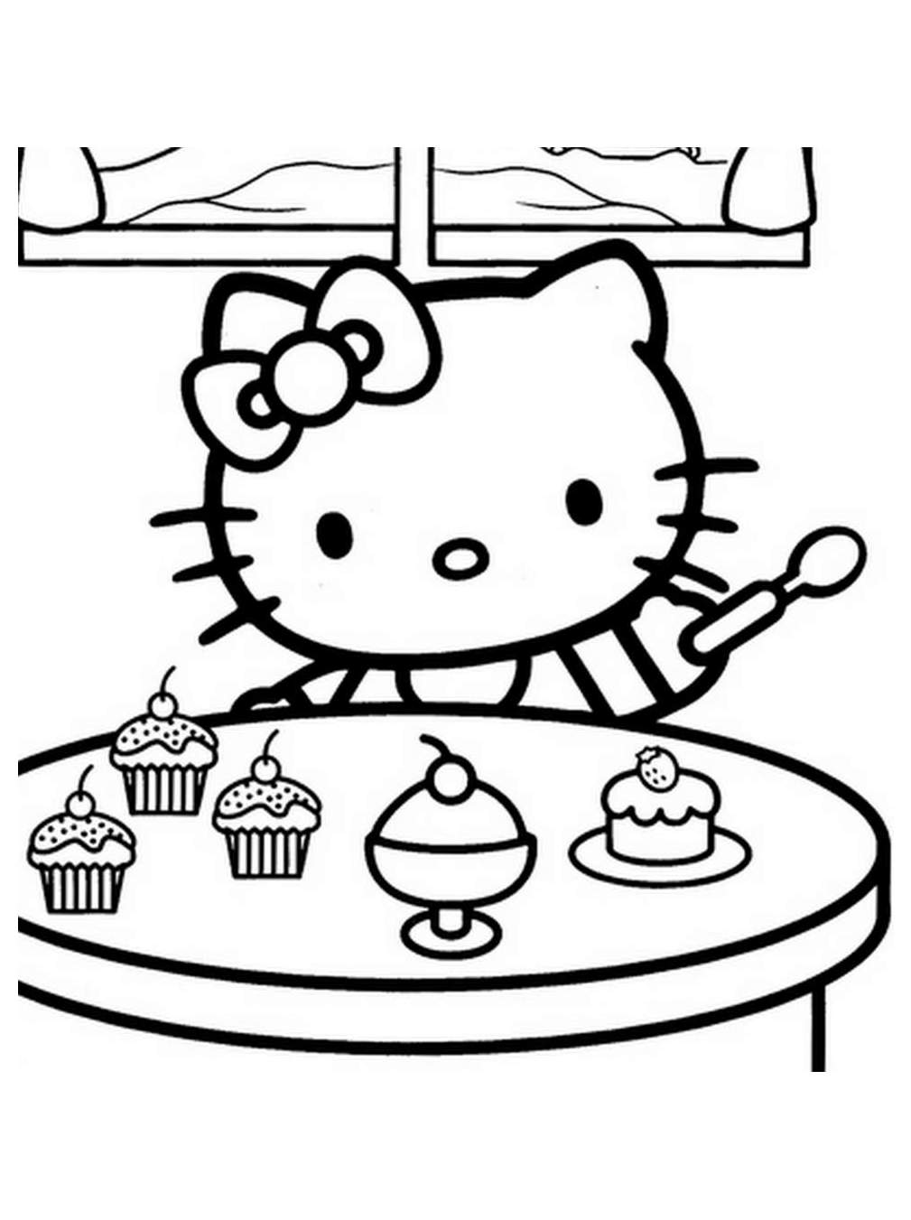 hello kitty color page hello kitty coloring pages birthday printable kitty hello color page