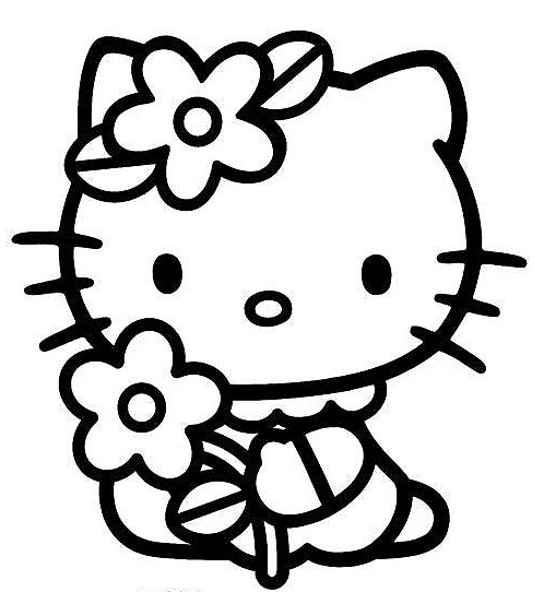 hello kitty color page hello kitty coloring pages birthday printable kitty hello page color