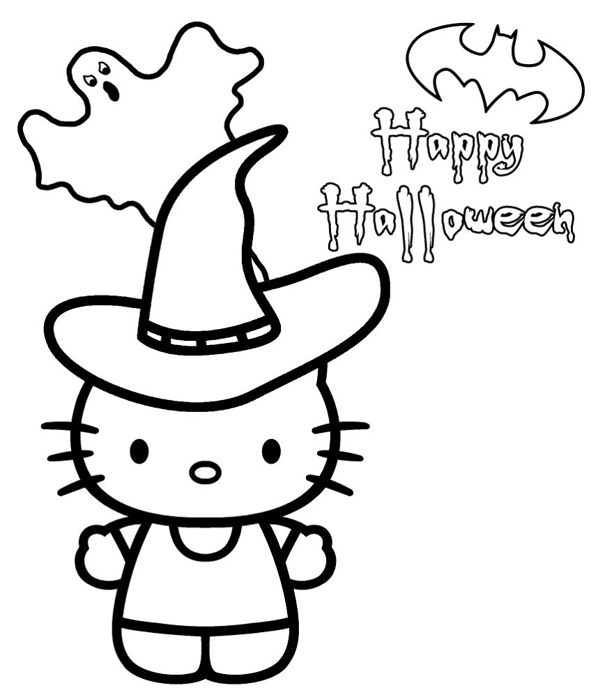 hello kitty coloring pages halloween free hello kitty halloween coloring pages with pumpkin coloring hello halloween kitty pages