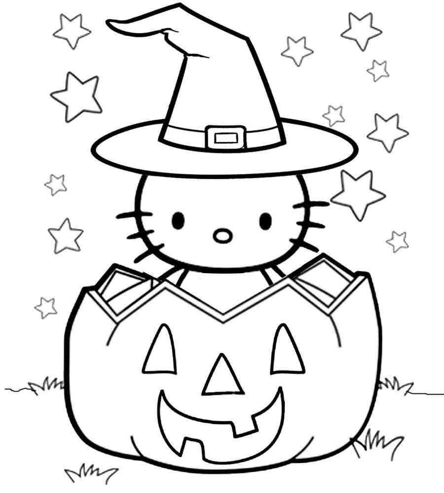 hello kitty coloring pages halloween hello kitty halloween coloring page free printable hello pages kitty halloween coloring