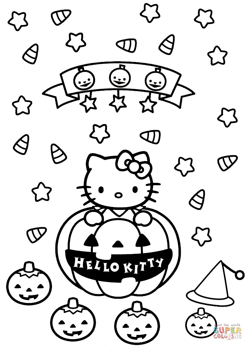 hello kitty coloring pages halloween hello kitty halloween coloring pages getcoloringpagescom halloween pages coloring hello kitty