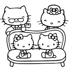 hello kitty family coloring pages free coloring pages printable pictures to color kids hello kitty coloring family pages