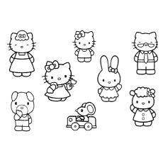 hello kitty family coloring pages hello kitty family to color free coloring library kitty pages coloring hello family
